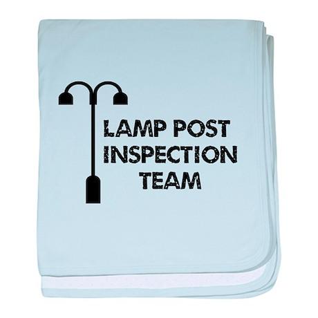 Lamp Post Inspection Team baby blanket