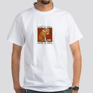 loveabullLrg White T-Shirt
