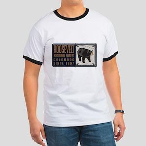 Roosevelt Black Bear Badge Ringer T
