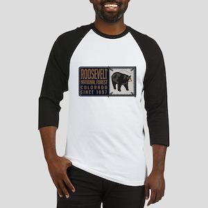 Roosevelt Black Bear Badge Baseball Jersey