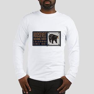 Roosevelt Black Bear Badge Long Sleeve T-Shirt