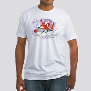 Northwest Airlines Seasons Greetings Fitted T-Shir