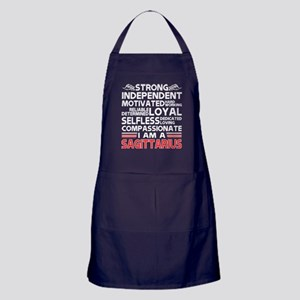 Strong Independent Motivates Sagittar Apron (dark)