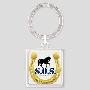 SOS Logo Square Keychain