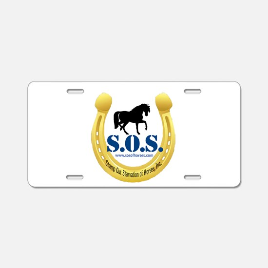 SOS Logo Aluminum License Plate