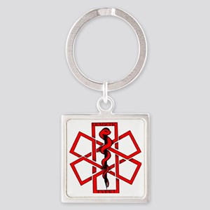 Type 1 Diabetic Square Keychain