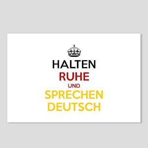 Halten Ruhe und Sprechen Deutsch Postcards (Packag