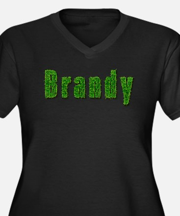 Brandy Grass Women's Plus Size V-Neck Dark T-Shirt