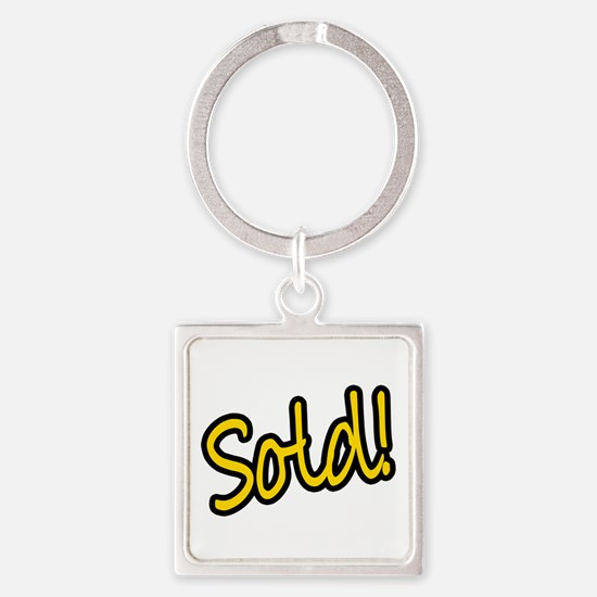 Sold! Square Keychain