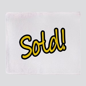 Sold! Throw Blanket