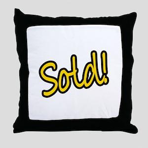 Sold! Throw Pillow