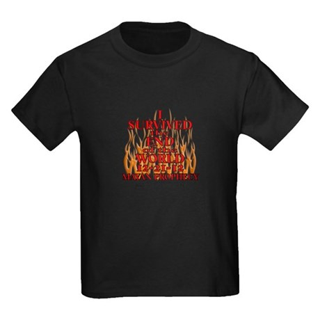 I SURVIVED THE END OF THE WORLD Kids Dark T-Shirt