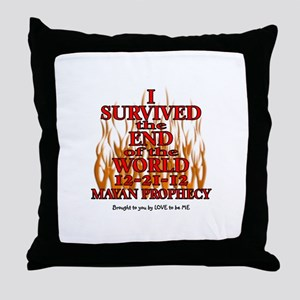 I SURVIVED THE END OF THE WORLD Throw Pillow