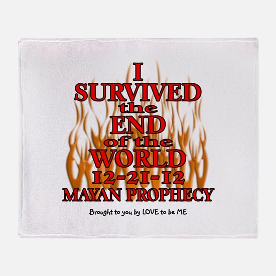 I SURVIVED THE END OF THE WORLD Throw Blanket