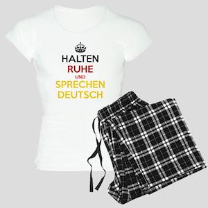 Halten Ruhe und Sprechen Deutsch Women's Light Paj