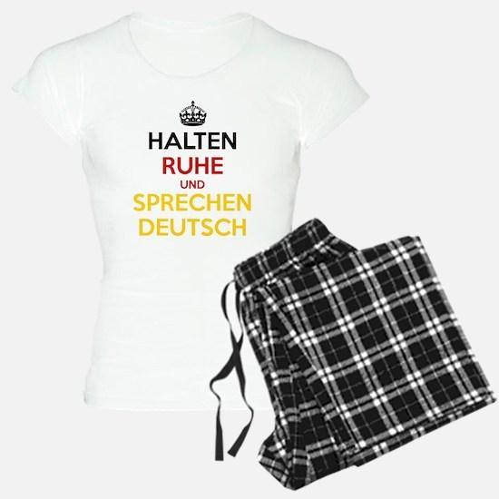 Halten Ruhe und Sprechen Deutsch Pajamas