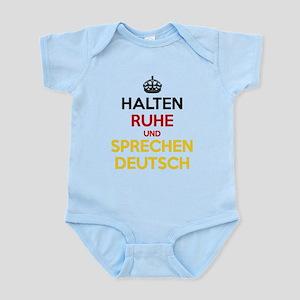 Halten Ruhe und Sprechen Deutsch Infant Bodysuit