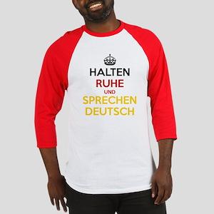 Halten Ruhe und Sprechen Deutsch Baseball Jersey