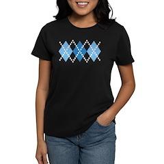 Blue Evil Argyle Women's Dark T-Shirt
