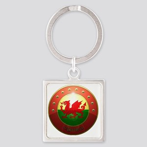 welsh shield Square Keychain