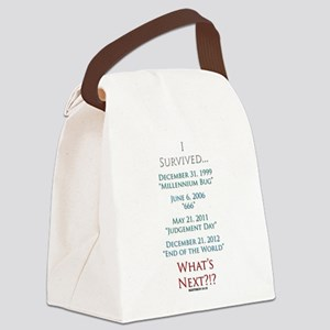 Survived... Whats Next?!? Canvas Lunch Bag