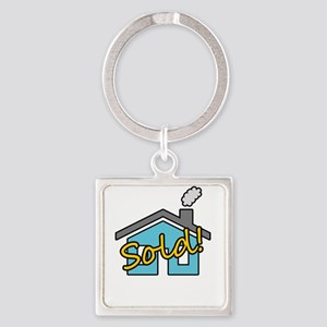House Sold! Square Keychain