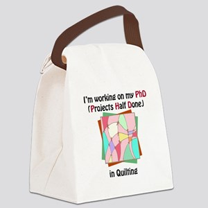 QuiltingPhD Canvas Lunch Bag