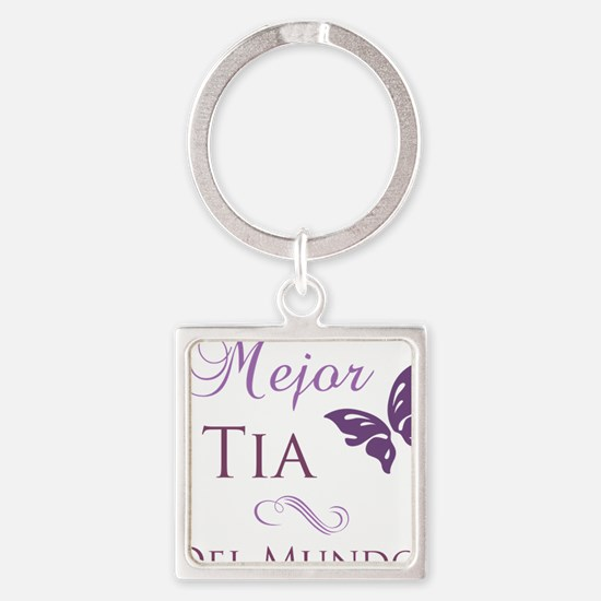 Best Aunt Square Keychain
