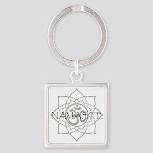 NamasteOm-1 Square Keychain