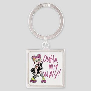 Outta My Way Square Keychain