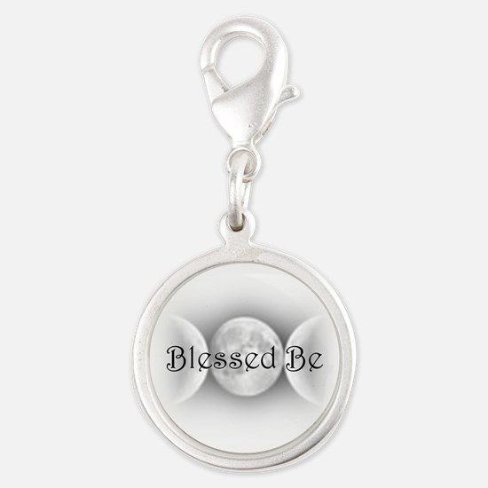 BlessedBe.png Silver Round Charm