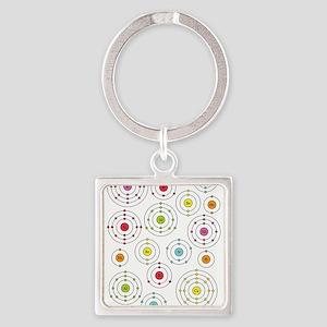Periodic Shells Square Keychain
