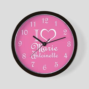 I Love Marie Antoinette Pink Wall Clock