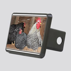 chickens on a roost Rectangular Hitch Cover