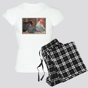 chickens on a roost Women's Light Pajamas