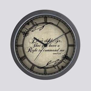 Jane Eyre No Right To Command Me Wall Clock