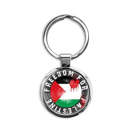 Freedom for PALESTINE 2011 Round Keychain