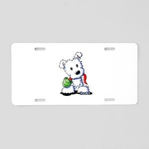 Muggles Westie Puppy Aluminum License Plate