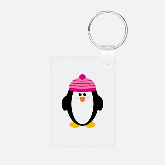 Pink Hat Penguin Keychains