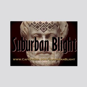 Suburban Blight Aristotle Head Tattoo Rectangle Ma