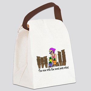 OneWMostPotsWins Canvas Lunch Bag