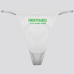 Super Power: Forgetfulness Classic Thong