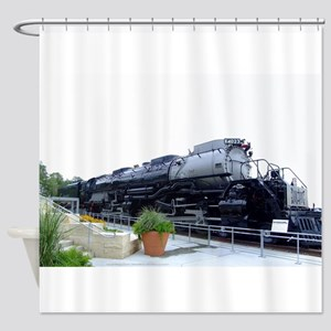 Big Boy Steam Engine Shower Curtain