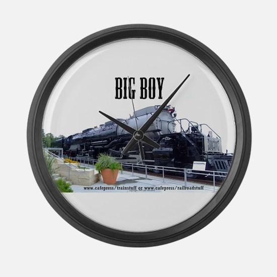 Big Boy Steam Engine Large Wall Clock