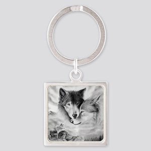 Wolfmates are forever Square Keychain
