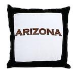 Copper Arizona Throw Pillow