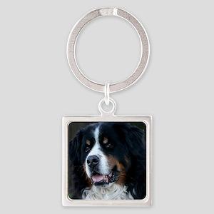 Bernese mountain dog Square Keychain