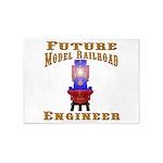 Future Model Railroad Engineer 5'x7'Area Rug