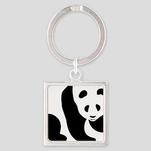 Panda Bear Square Keychain