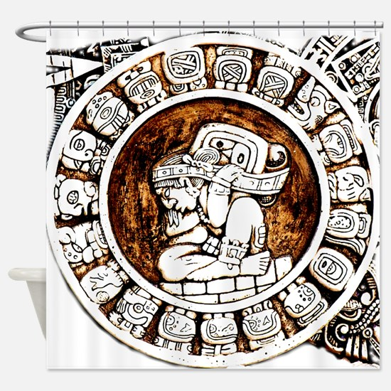 mayan circle Shower Curtain